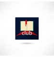 Club book in the square vector image vector image