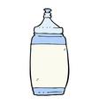 comic cartoon water bottle vector image vector image