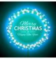 Congratulation to Christmas with lights vector image vector image