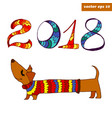dachshhund vector image vector image