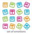 emotions vector image