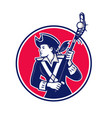 female lacrosse player patriot mascot vector image vector image