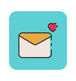 flat color envelope icon vector image vector image