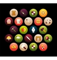 Flat icons set 30 vector image vector image