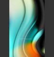 fluid liquid colors design colorful marble or vector image vector image