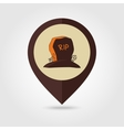 Halloween grave mapping pin icon vector image