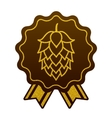 Hop gold brewery beer icon flat web sign symbol vector image