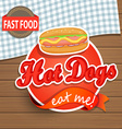 Hot dog concept vector image vector image