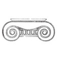 ionic capital the volutes of its capital vintage vector image vector image