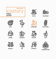 italy - modern line design style icons set vector image