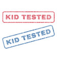 kid tested textile stamps vector image vector image