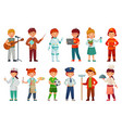 kids workers child professional uniform vector image