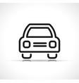 line car icon symbol vector image