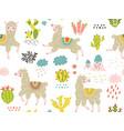 llama pattern vector image vector image