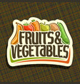 logo for fruits and vegetables vector image