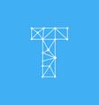 logo letter t dots lines vector image