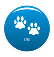 lynx step icon blue vector image