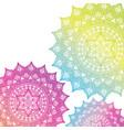 mandala india culture icon vector image vector image