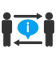 men information exchange icon vector image vector image