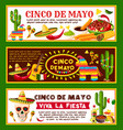 mexican banners for cinco de mayo holiday vector image vector image
