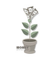 money dollars banknotes money tree with dollar vector image vector image