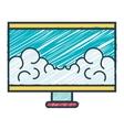 monitor desktop computer icon vector image vector image