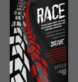 motorcycle tire poster vector image vector image