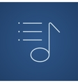 Musical note line icon vector image vector image