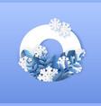 number zero winter natural vector image vector image