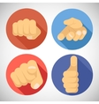 Open Palm Pleading Giving Pointing Finger Tumbs up vector image vector image
