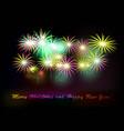 postcard happy new year 2018 vector image vector image