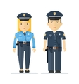 profession policeman and woman vector image vector image