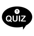 quiz icon on white background flat style vector image vector image