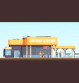 railway station background vector image vector image