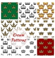 Royal crown seamless pattern background vector image