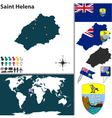 Saint Helena island map world vector image vector image