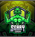 scary corona esport mascot logo design vector image