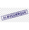Scratched albuquerque rectangle stamp