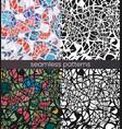 seamless mosaic pattern set broken glass vector image vector image
