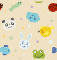 seamless pattern childhood theme vector image