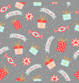 seamless pattern for valentine s day with cute vector image vector image