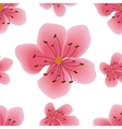 Seamless pattern with sakura flowers vector image vector image