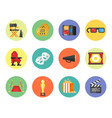 set of cinema icon for online movies vector image vector image
