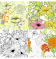 Set of floral seamless background vector | Price: 1 Credit (USD $1)