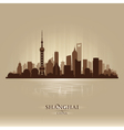 shanghai china city skyline silhouette vector image vector image