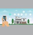 smart house concept home vector image