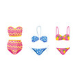 stylish swimsuit as clothing for sun bathing vector image vector image