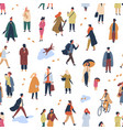 tiny people in trendy clothes flat seamless vector image vector image