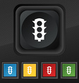 Traffic light signal icon symbol Set of five vector image