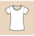 White Blank Shirt vector image vector image